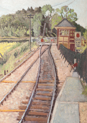 Waiting for the train, Wittersham 70x50cm
