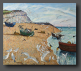 Gulls Herald The Return Of The Fishermen 86x102cm