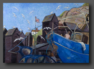 The Boat Repair Yard 70x100cm