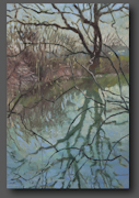 Pond in March 70x50cm
