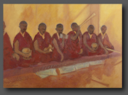 Buddhist monks 50x70cm