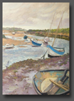 Low tide Burnham Overy Staithe 70x50cm